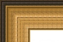 "T7207 Antique Gold Rustic Frame 3-3/4"" Wide"