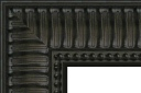 "T4160 Black Ribbed Scoop Frame with Beaded Lip 3-1/2"" Wide"