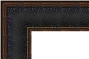 "EC476 Black Crackle Scoop Frame 4-5/8"" Wide"