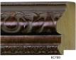 "EC700 Antique Bronze Ornate Frame 3-1/2"" Wide"