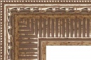"EC726 Antique Silver Ribbed Scoop Frame 4-3/8"" Wide"