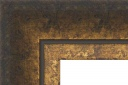 "EC763 Contemporary Gold Slant Frame 2"" Wide"