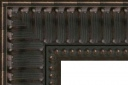 """T4163 Bronze Ribbed Scoop Frame with Beaded Lip 3-1/2"""" Wide"""