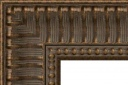 """T4161 Antique Gold Ribbed Frame with Beaded Lip 3-1/2"""" Wide"""