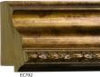 """EC702 Antique Gold Frame 3-3/8"""" Wide"""