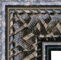 "EC708 Antique Black Basket Weave Frame 2-1/4"" Wide"