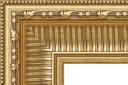 """EC725 Gold Ribbed Scoop Frame 4-3/8"""" Wide"""